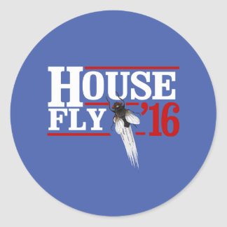 HOUSE FLY 2016 - white -- Presidential Election 20 Round Sticker
