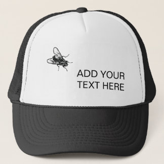 House fly and your text funny customizable trucker hat