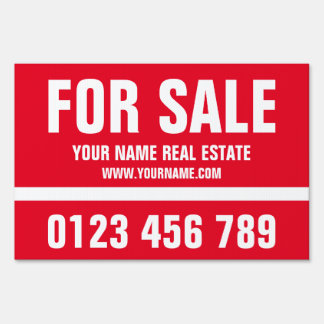 House for sale real estate double sided yard sign