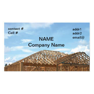 house framing business cards