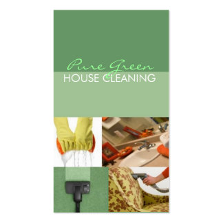 House Home Cleaning Housekeeping Service Business Card Templates