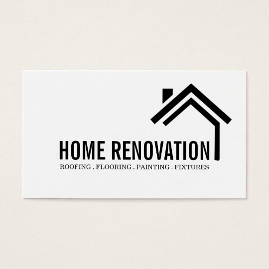 House home remodeling renovation construction business for Home builder business cards