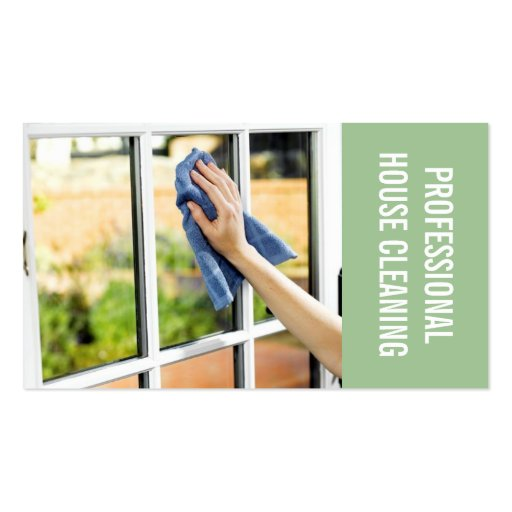 House Home Window Cleaning, Cleaners Business Card