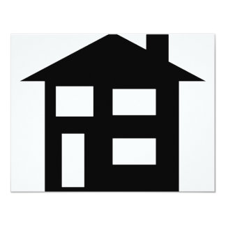 "house icon 4.25"" x 5.5"" invitation card"