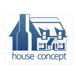 House icon concept postcard