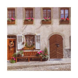 House in Gruyere village, Switzerland Canvas Print