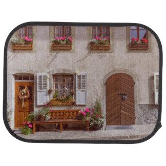 House in Gruyere village, Switzerland Car Mat