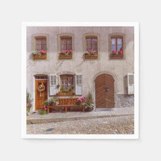 House in Gruyere village, Switzerland Disposable Napkins