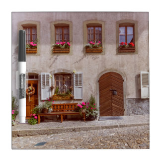 House in Gruyere village, Switzerland Dry Erase Board