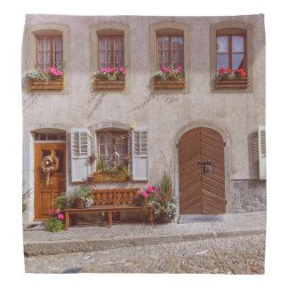 House in Gruyere village, Switzerland Head Kerchiefs