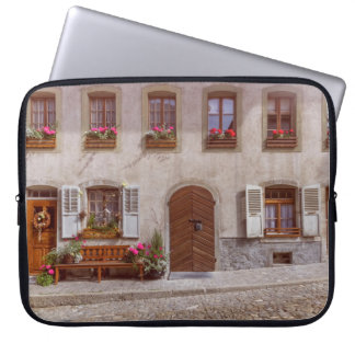 House in Gruyere village, Switzerland Laptop Sleeve