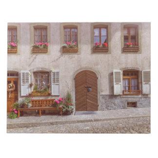 House in Gruyere village, Switzerland Notepad