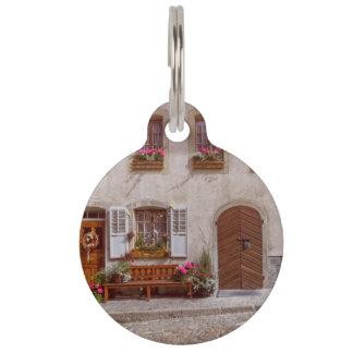 House in Gruyere village, Switzerland Pet ID Tag