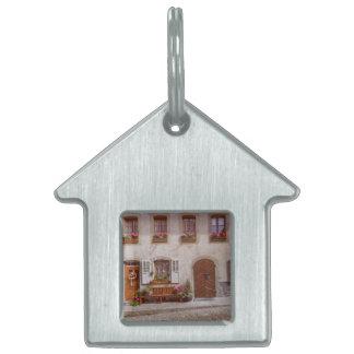 House in Gruyere village, Switzerland Pet Name Tag