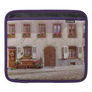 House in Gruyere village, Switzerland Sleeve For iPads
