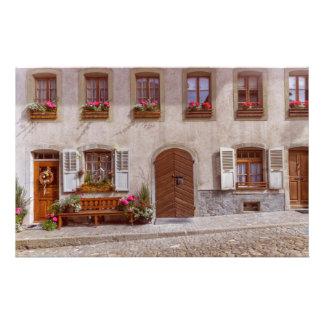 House in Gruyere village, Switzerland Stationery