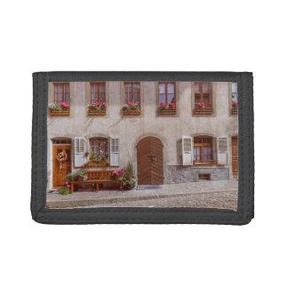 House in Gruyere village, Switzerland Trifold Wallet