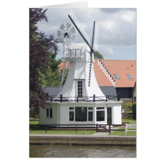 House In The Style Of A Windmill At Norfolk Broads Card