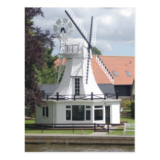 House In The Style Of A Windmill At Norfolk Broads Postcard