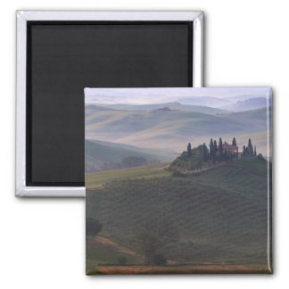 House in Tuscany in the morning fog magnet
