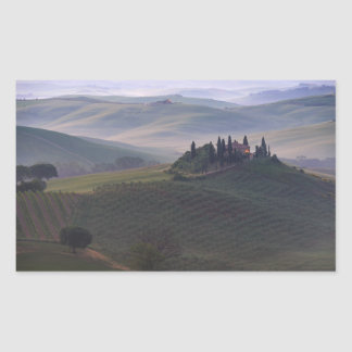 House in Tuscany in the morning rectangle sticker