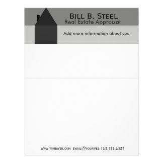House Industry Real Estate Agent Construction Home Letterhead
