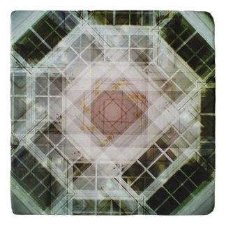 house kaleidoscope door trivet