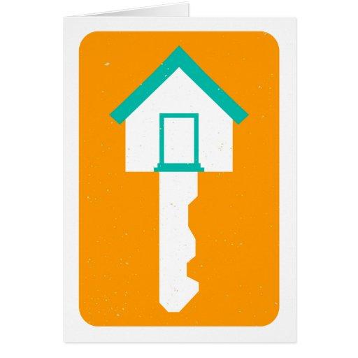 house key greeting card