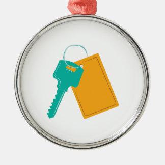 House Key Metal Ornament
