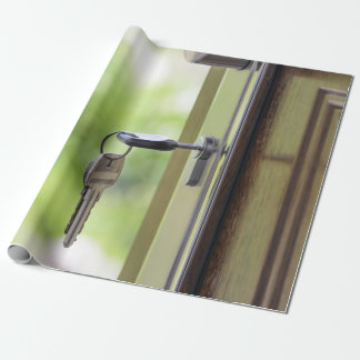 House keys wrapping paper