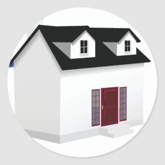 House (Little Home) Round Sticker