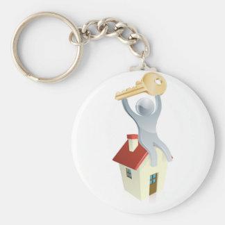 House man and key keychain