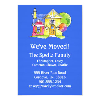 House Moving Announcment Card