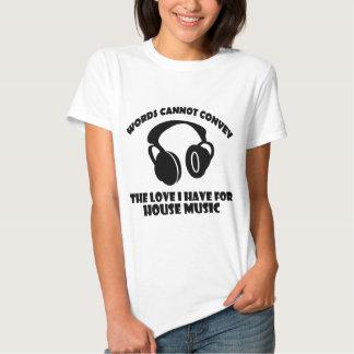 House Music designs T Shirts