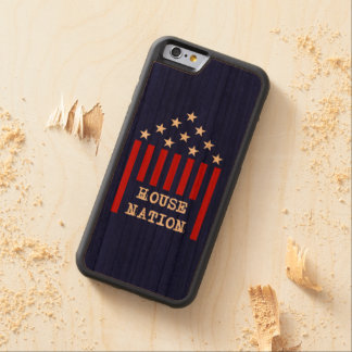House Nation Stars & Stripes Carved Cherry iPhone 6 Bumper Case