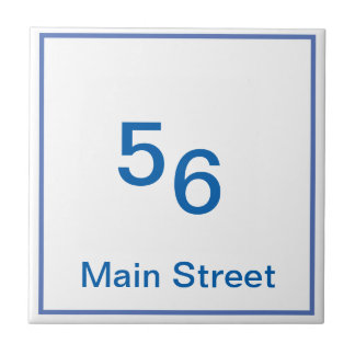 house numbering tile customizable