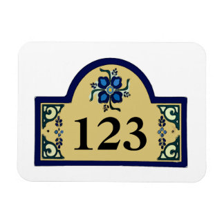 House Numbers Change Text Magnet