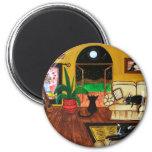 House of Cats Full Moon Fridge Magnet