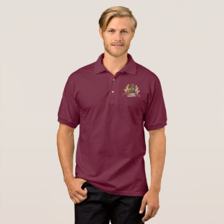 House of Dragicorns Crest gold rainbow leaves Polo Shirt
