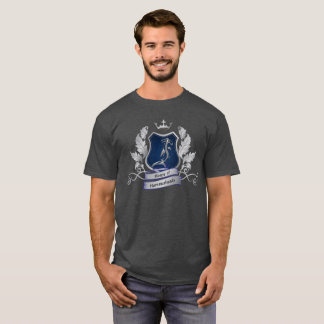 House of Hammerheads Crest silver gray blue Design T-Shirt