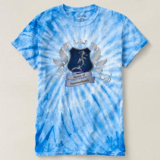 House of Hammerheads Crest silver gray blue Design T-shirt
