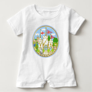 House of Hereford Blue Castle Baby Romper