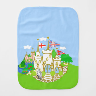 House of Hereford Blue Castle Burp Cloth