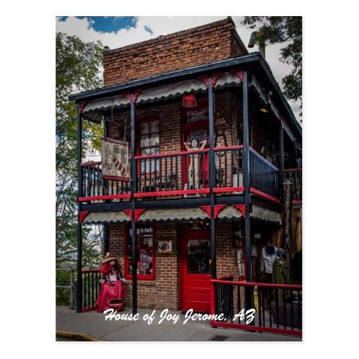 House of Joy, Jerome, AZ. Postcard