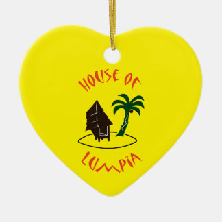 House of Lumpia Ceramic Heart Ornament