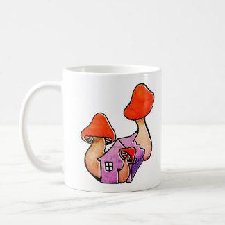 House of mushrooms coffee mug