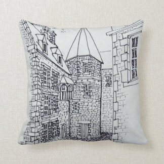 House of Princess Anne of Brittany | Saint-Malo Throw Pillow