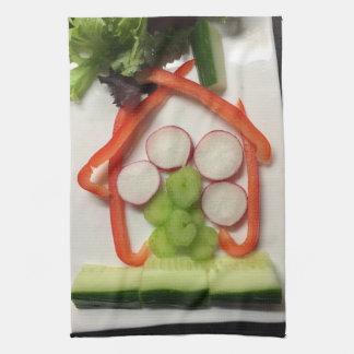House-of-salad tea towel