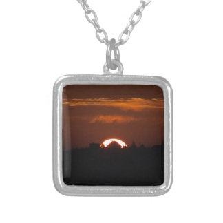 House Of The Falling Sun Silver Plated Necklace