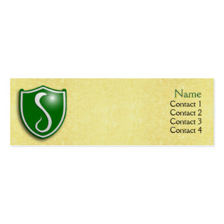 House of the Serpent Profile Card Business Card